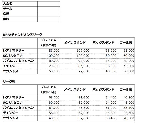 Price sheet2
